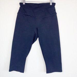 SPANX crop black leggings, Size Small